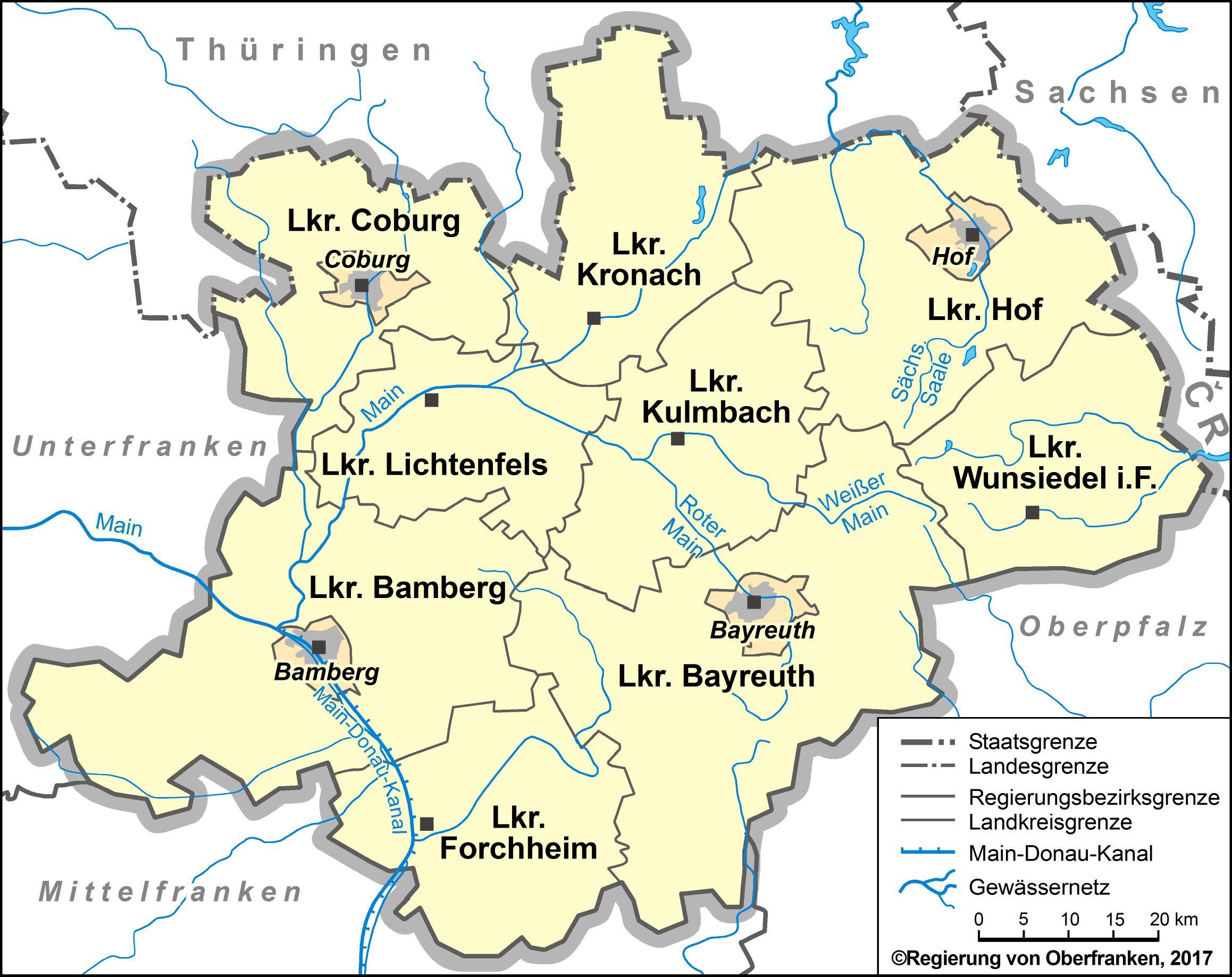 Oberfranken Karte.Stiftung Oberfrankenstiftung